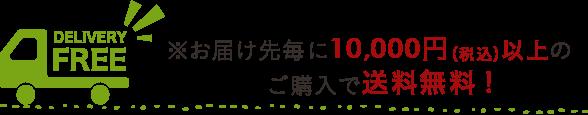 ※お届け先毎に10,000円(税込)以上のご購入で送料無料!